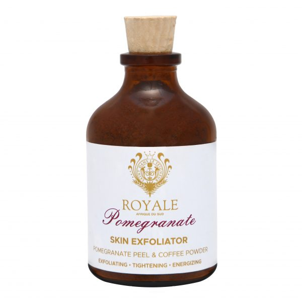 Pomegranate Skin Exfoliator Online - Natural Beauty Products - Tightening and Energising - Cape Town - Royale Afrique De Sud